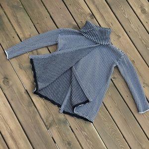CAbi Fergie sweater, striped black white